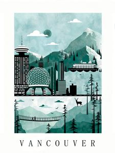 Vancouver City Poster Illustration