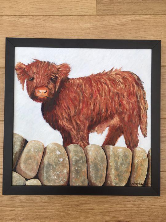 Highland Calf in Oil - CNG Art