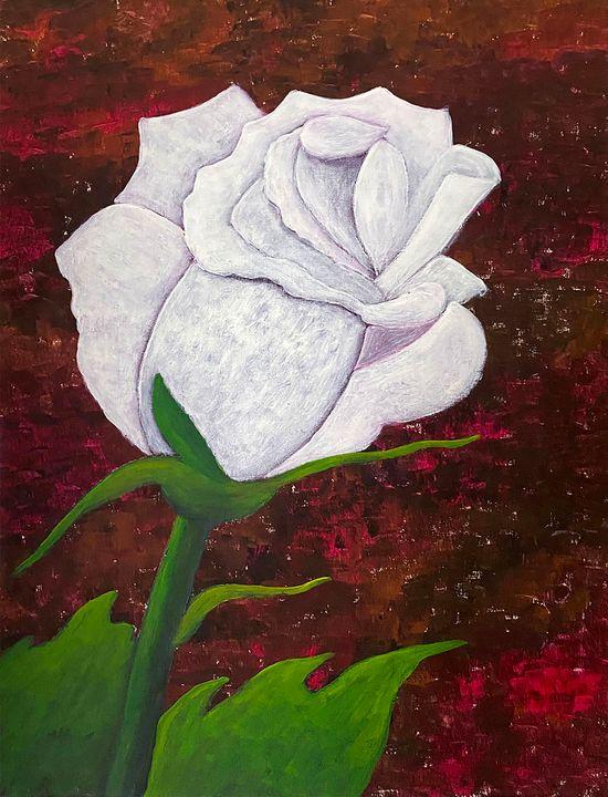 """ White Rose"" - ArtbyArtak"