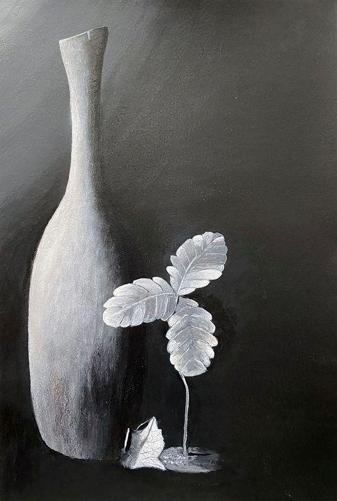 Vase with Plant - ArtbyArtak