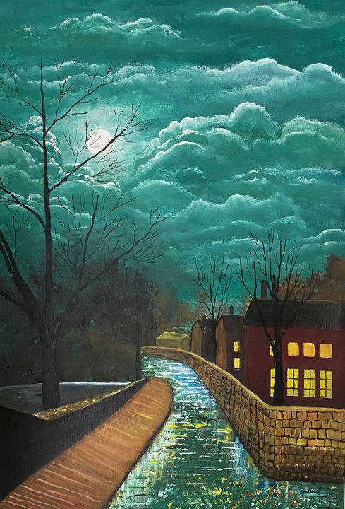 """Evening City"" - ArtbyArtak"