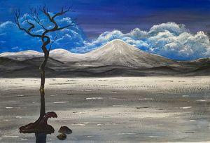 """ Lonely Tree on the Lake"" - ArtbyArtak"
