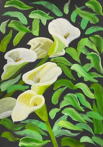 """Abstract Calla Lilies Flowers"" - Art by Artak"