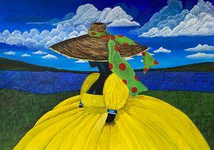 """""""Woman in Yellow Dress"""" - Art by Artak"""