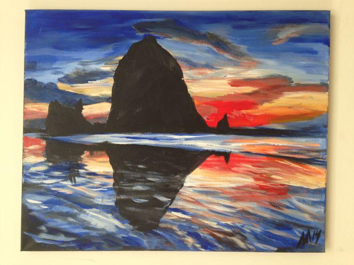 Haystack Sunset - Aiken-Art
