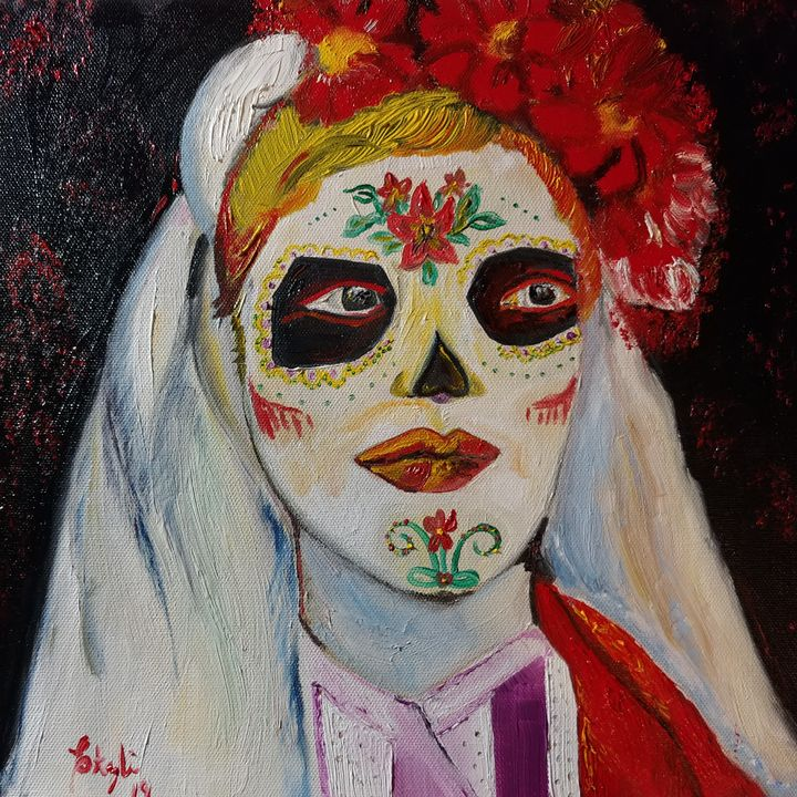 Veiled Day of the Dead - Sad Water Designs