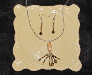 Copper Color Bead Tassel Jewelry Set - White Hare Jewelry