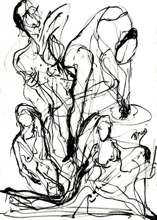 Abstract Sketch Figures by BRUNI - BRUNI Sablan