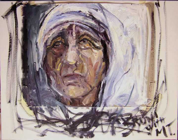 """""""Mother Teresa With Us All"""" by BRUNI - BRUNI Sablan"""