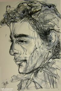 Ayrton Senna Drawing by BRUNI
