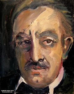 Kahlil Gibran Painting by BRUNI