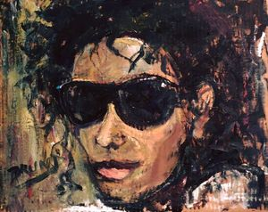 """TO YOU MICHAEL"" Painting by BRUNI"