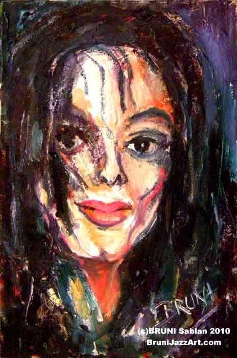 Michael Jackson Painting by BRUNI - BRUNI Sablan