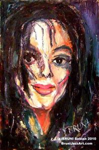Michael Jackson Painting by BRUNI