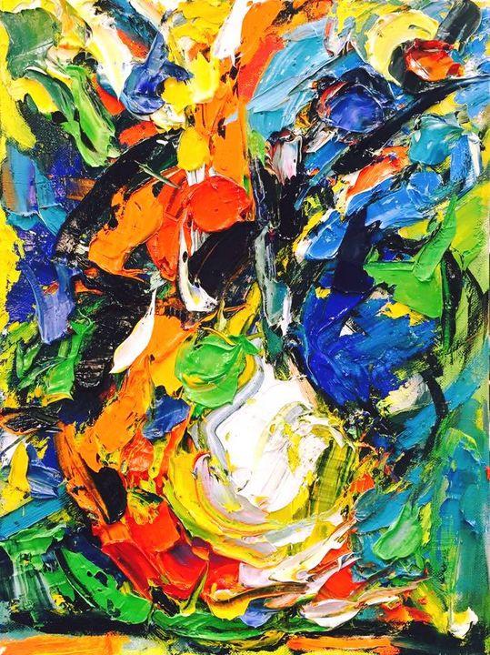 'Fireworks on Canvas' by BRUNI - BRUNI Sablan