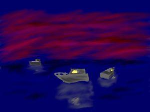 Boat's reflection