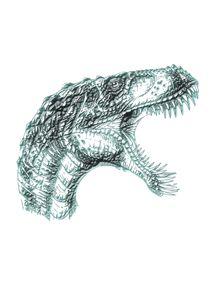 Dinosaur head print #5