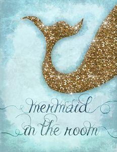 Mermaid tail - Girls room decor