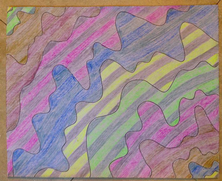 Stripe, drip, wavy - Christina