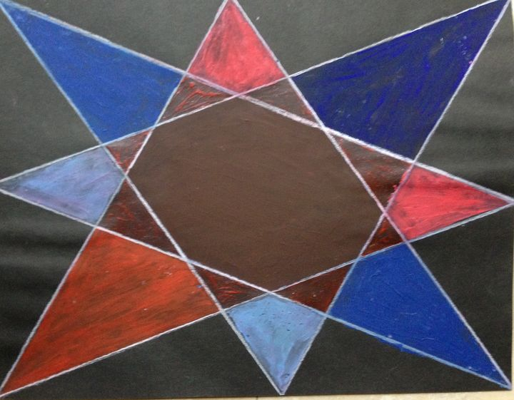 Red and blue star - Christina