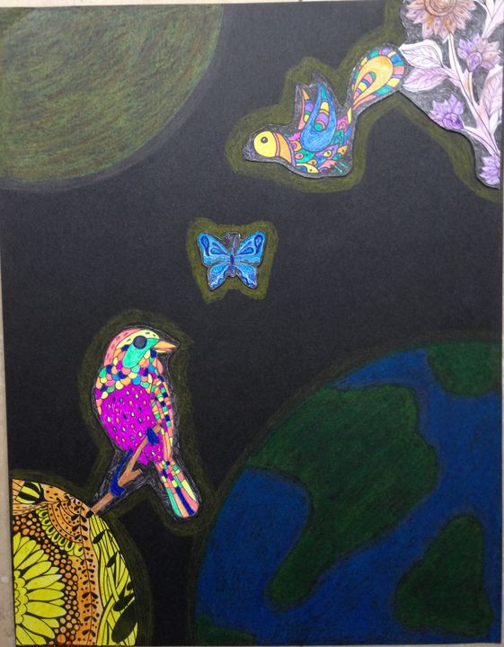 Birds in outer space - Christina