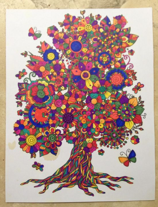 Tree of flowers - Christina