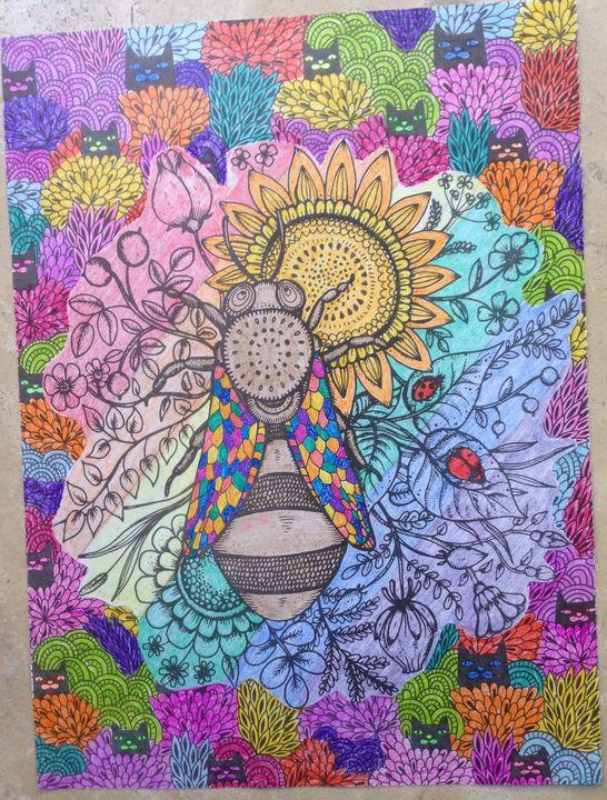 Bee-utiful on Sunflower - Christina