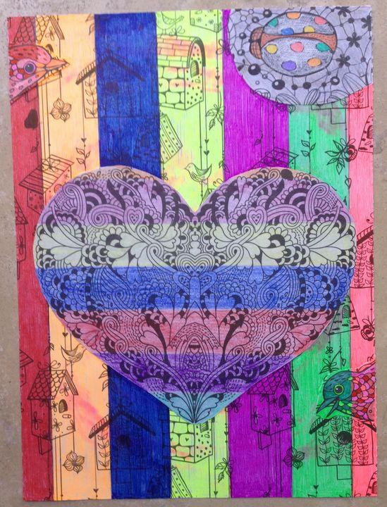Rainbow heart - Christina