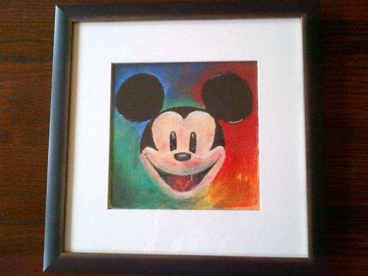 Mickey Mouse Pastel Artwork - Rosie Quick Art