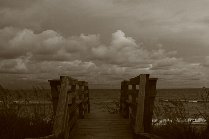 Cloudy day at beach - Beauty For Ashes