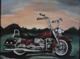 Sunrise Harley Painting
