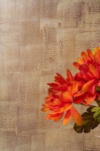Fall Flowers with Artistic Overlay