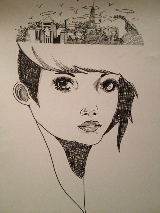 Paris on The Mind - Black Kat Art