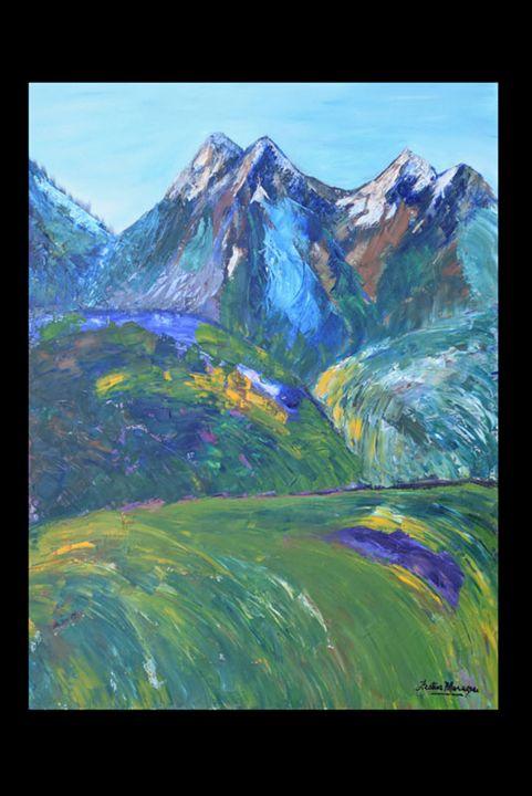 Mountain Landscape - Festus C Marazere
