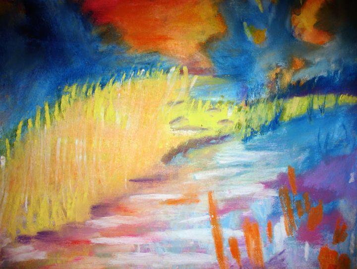 Beautiful garden colours at sunset - Joy Azer's Gallery