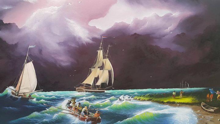 Storm at North Sea - Constantin