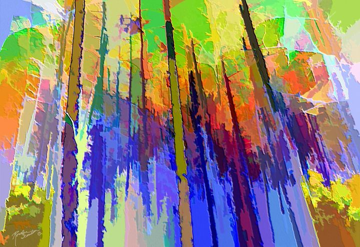 Abstract Trees - RosalieScanlonPhotography&Art