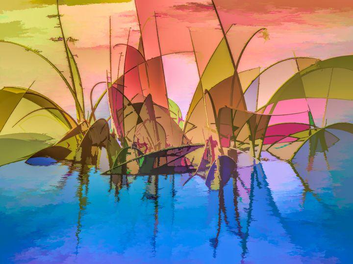 Swamp Grass Abstract - RosalieScanlonPhotography&Art