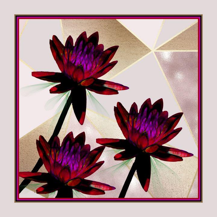 Cranberry Water Lilies - RosalieScanlonPhotography&Art