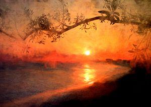 Golden Painted Sunset - RosalieScanlonPhotography&Art