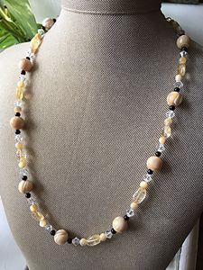 Elegant cream and black necklace