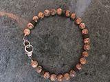 Jasper and wood bracelet