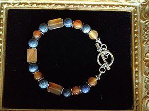 Blueberries and honey bracelet