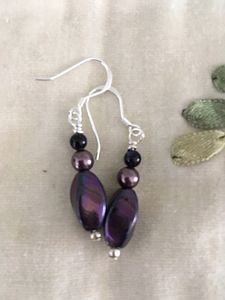 Twisted Purple earrings