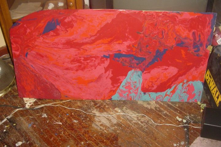 3ft.X4ft.red sky - maeshall art 3rd.