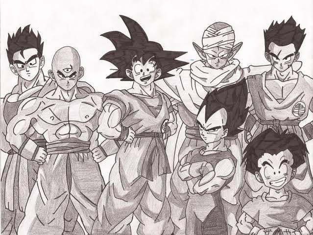 The whole Z-warriors - MANGAKA