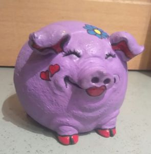 This little piggy was purple