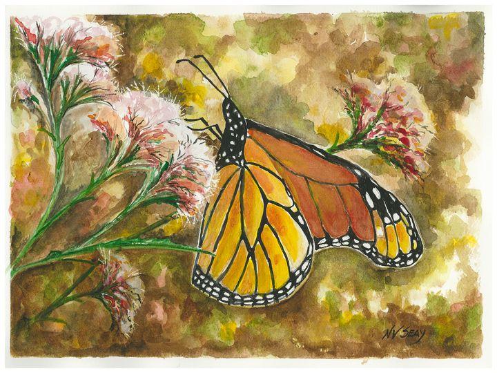 Monarch on Joe Pye - Artscape