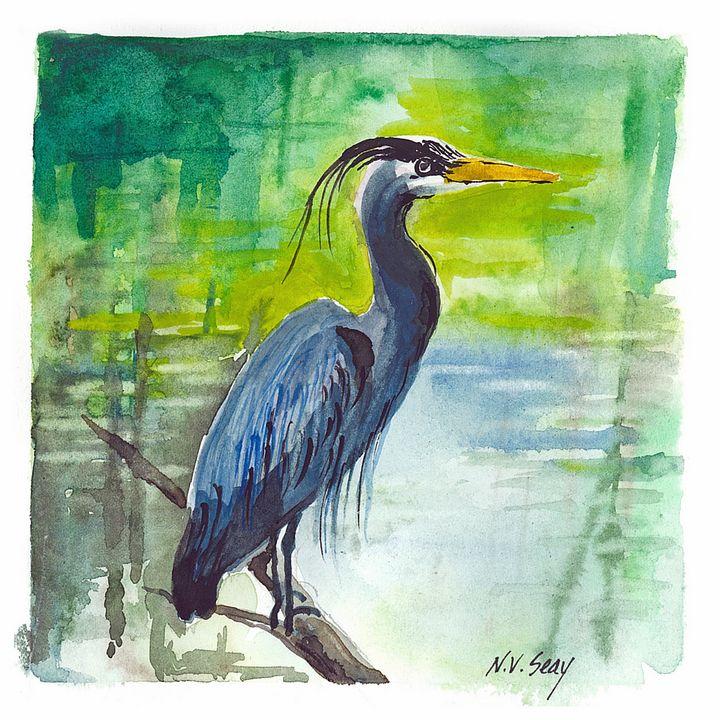 Blue Heron and Citron - Artscape