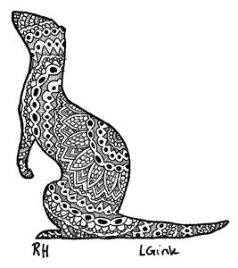 ferret zentangle motive